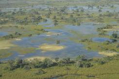 Botswana vue du ciel